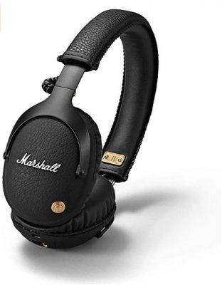 Marshall Monitor Bluetooth Wireless Over-Ear Headphone, Black (04091743), 6.3x6.3x4.1
