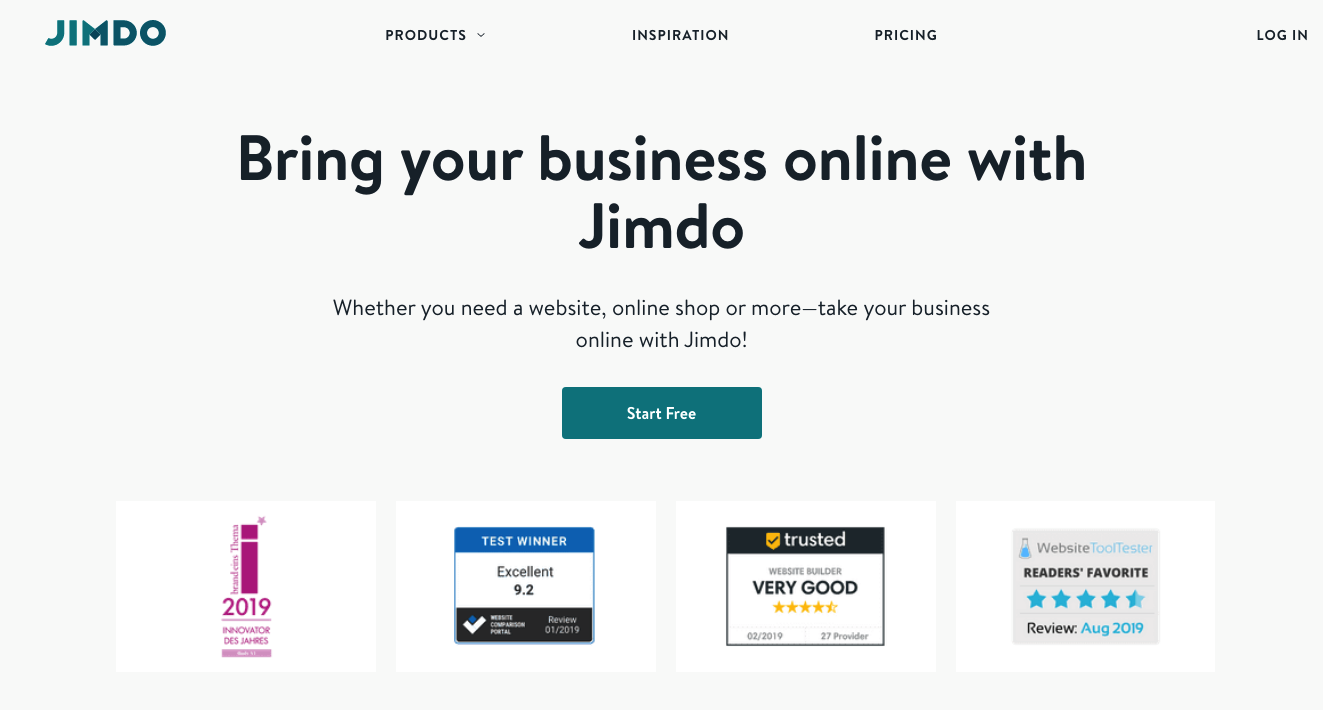 bring your business online with jimdo