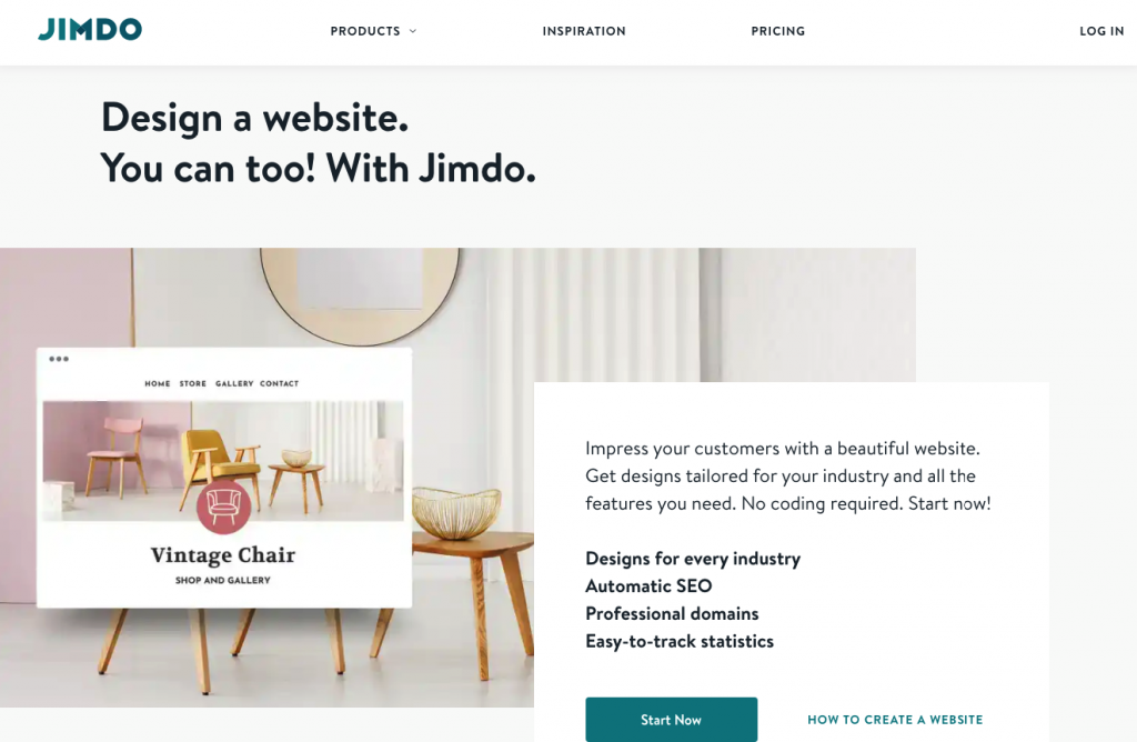 design a website with jimdo