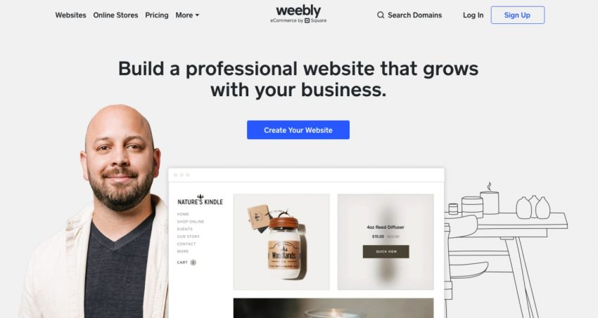 Build your own website with weebly