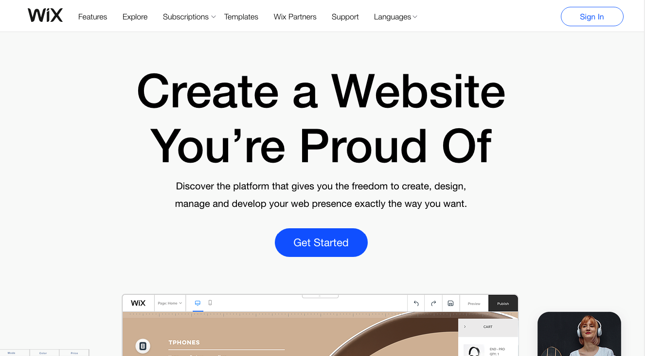 Build your own website at wix.com