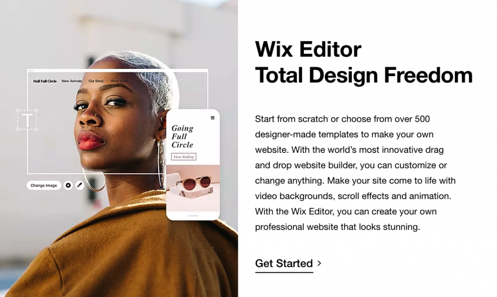 wix editor total design freedom